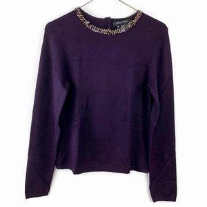 Etcetera Silk & Cashmere Pullover Crew Sweater